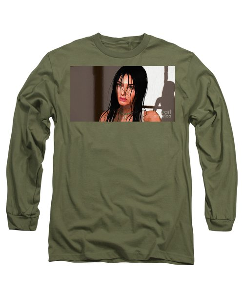 Portrait Female 1 Long Sleeve T-Shirt