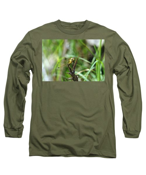Portrait Of A Dragonfly Long Sleeve T-Shirt