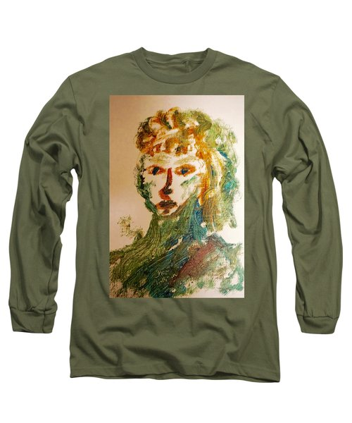 Portrait Of A Girl  Long Sleeve T-Shirt by Shea Holliman