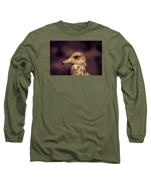 Long Sleeve T-Shirt featuring the photograph Portrait Of A Gull by Lora Lee Chapman