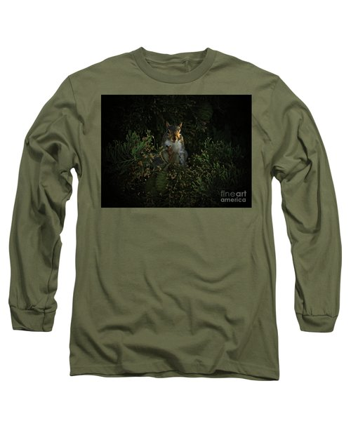 Portrait Of A Squirrel Long Sleeve T-Shirt