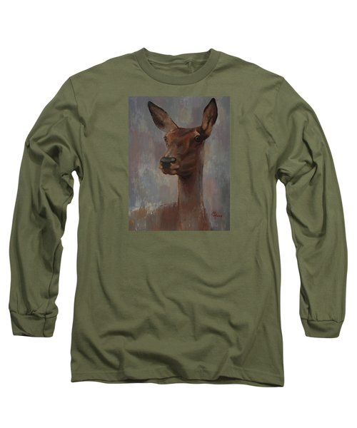 Portrait Of A Young Doe Long Sleeve T-Shirt