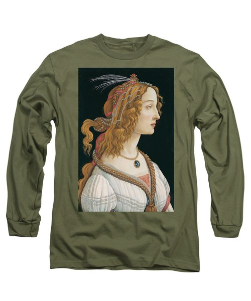 Portrait Of A Young Woman Long Sleeve T-Shirt