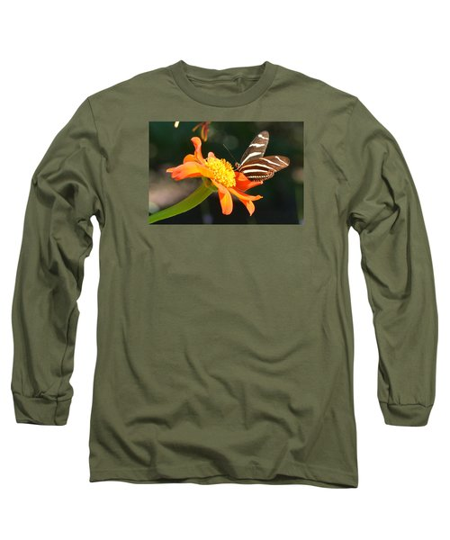 Portrait Of A Zebra Heliconia Long Sleeve T-Shirt