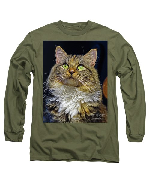 Portrait Of Holly Long Sleeve T-Shirt by Larry Nieland