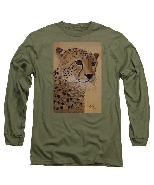 Portrait Of Murphy - Male Cheetah Long Sleeve T-Shirt