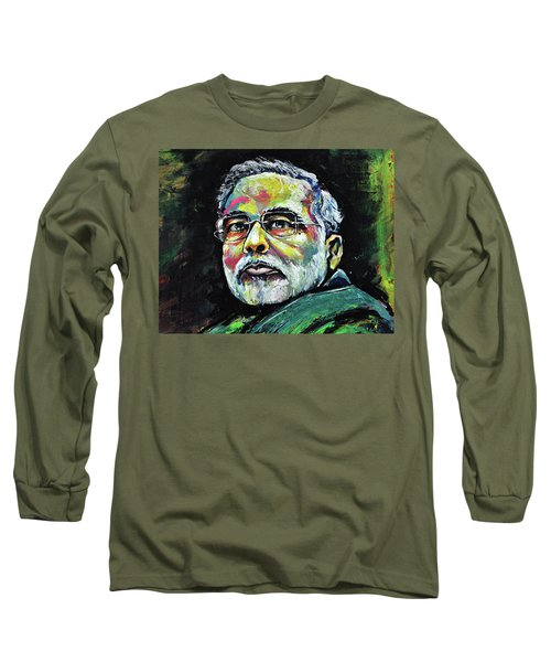 Portrait Of Shri Narendra Modi Long Sleeve T-Shirt