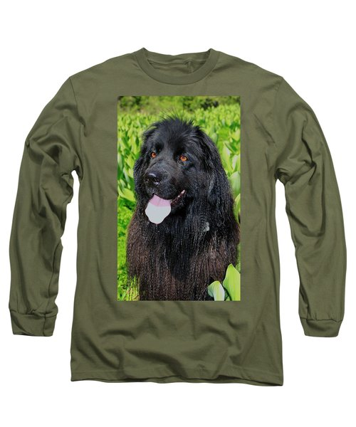 Portrait Of Sierra Long Sleeve T-Shirt by Sean Sarsfield