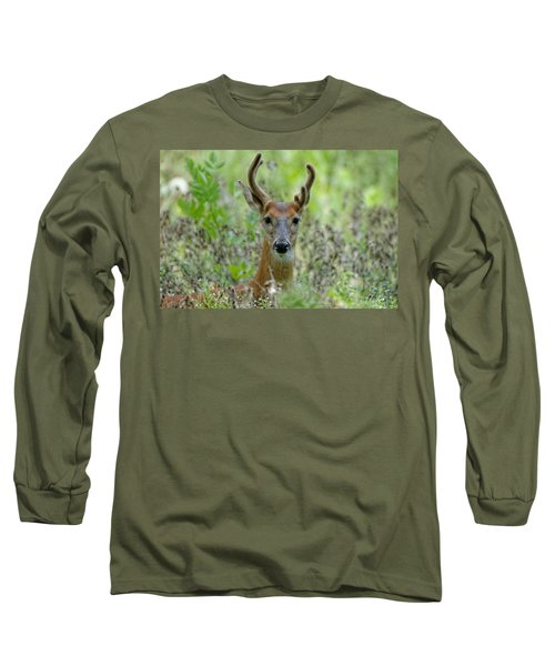 Portriat Of Male Deer Long Sleeve T-Shirt