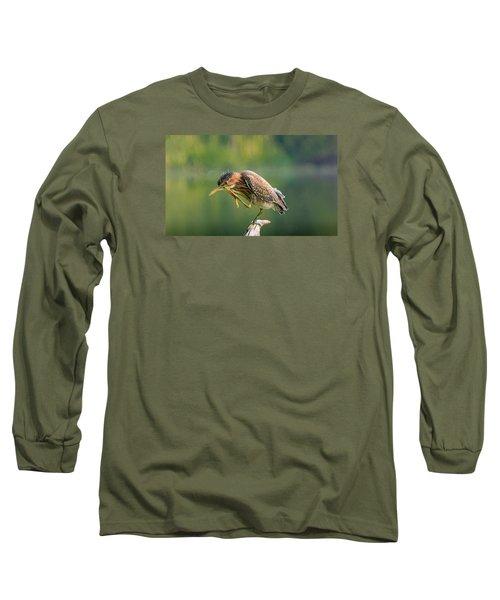 Posing Heron Long Sleeve T-Shirt