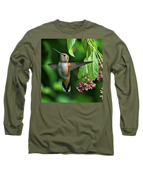 Posing Long Sleeve T-Shirt by Sheldon Bilsker