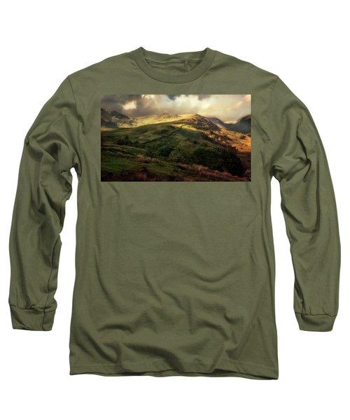 Postcard From Scotland Long Sleeve T-Shirt by Jaroslaw Blaminsky