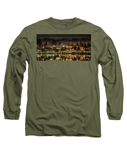 Poulsbo Waterfront 5 Long Sleeve T-Shirt by Wally Hampton