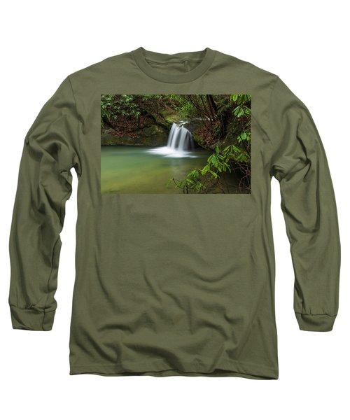 Pounder Branch Falls # 2 Long Sleeve T-Shirt by Ulrich Burkhalter