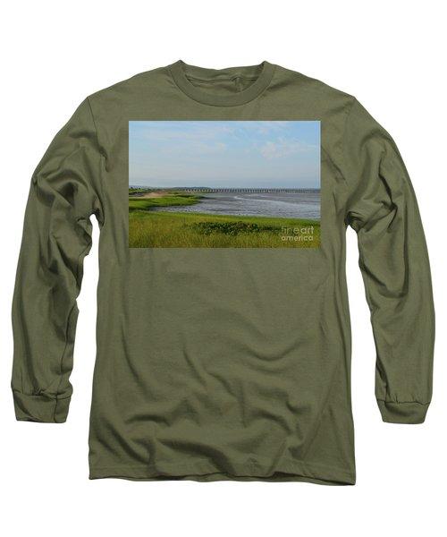 Powder Point Bridge In Duxbury  Long Sleeve T-Shirt