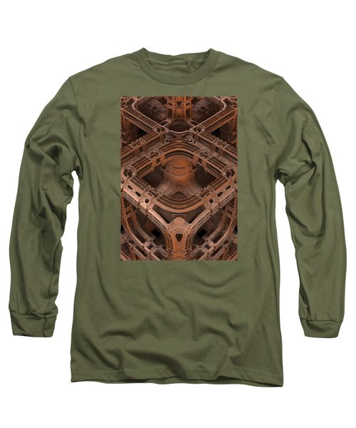 Long Sleeve T-Shirt featuring the digital art Power Station Epsilon by Lyle Hatch