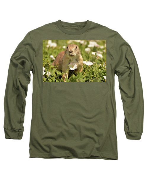 Prairie Dog Long Sleeve T-Shirt by Nancy Landry