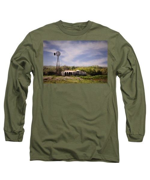 Long Sleeve T-Shirt featuring the photograph Prairie Farm by Lana Trussell