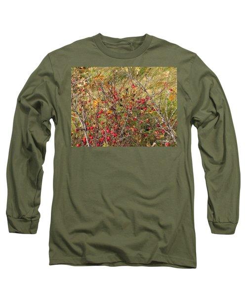 Prairie Rosehips Long Sleeve T-Shirt