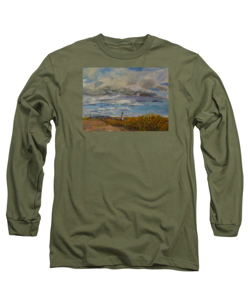 Prairie Town Long Sleeve T-Shirt by Helen Campbell