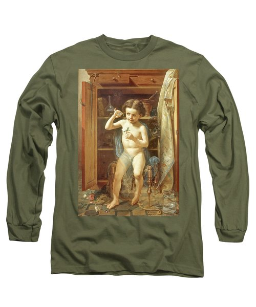 Long Sleeve T-Shirt featuring the painting Pranks Of Love by Manuel Ocaranza