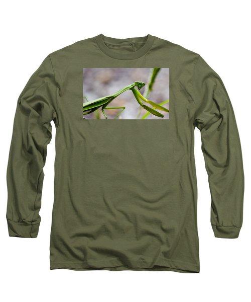 Praying Mantis Looking Long Sleeve T-Shirt by Jonny D