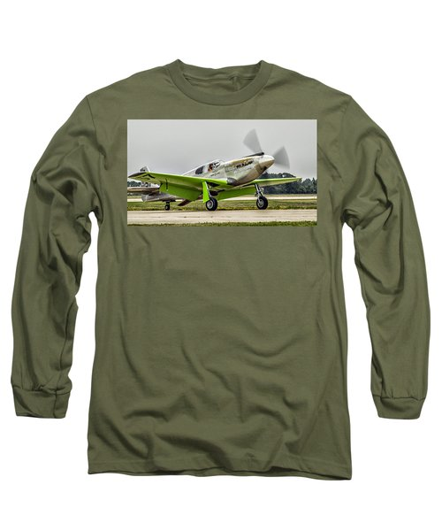 Long Sleeve T-Shirt featuring the photograph Precious Metal Final Flight by Alan Toepfer