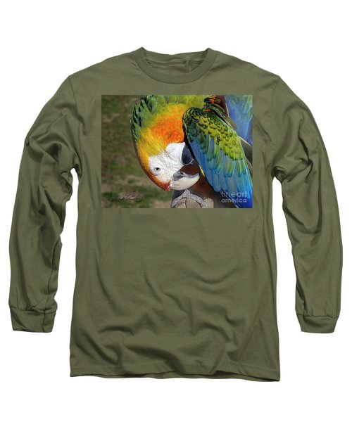 Preening Macaw Long Sleeve T-Shirt