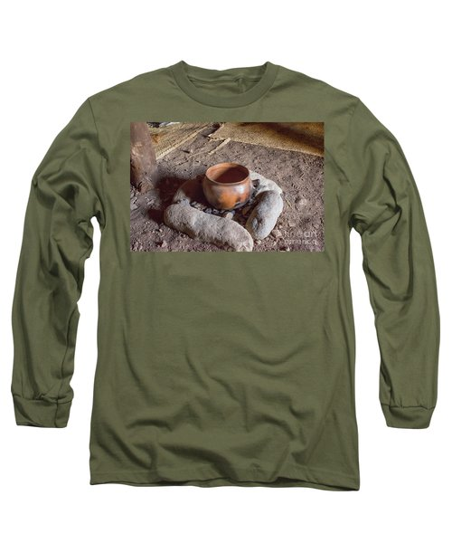 Long Sleeve T-Shirt featuring the photograph Prehistoric Cooking  by Patricia Hofmeester
