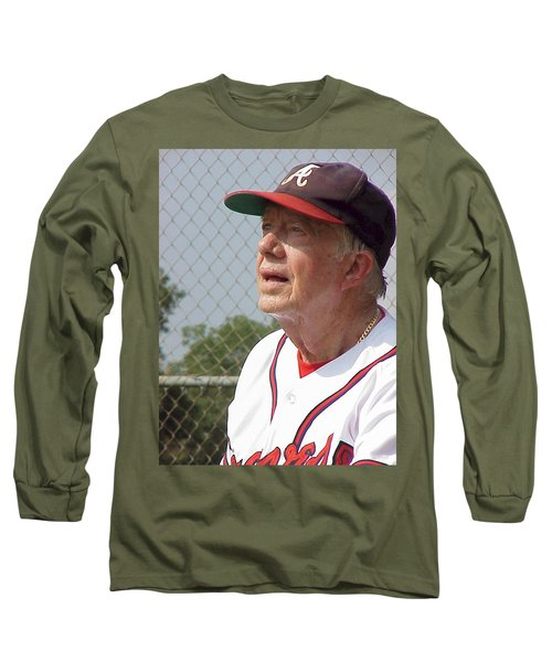 President Jimmy Carter - Atlanta Braves Jersey And Cap Long Sleeve T-Shirt