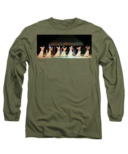 Pretty Dancers In Tahiti Long Sleeve T-Shirt