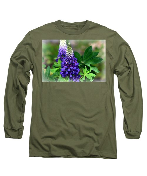 Pretty In Purple Long Sleeve T-Shirt by Clarice  Lakota