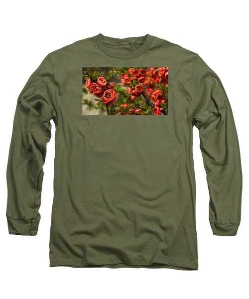 Long Sleeve T-Shirt featuring the photograph Pretty In Red by Cameron Wood