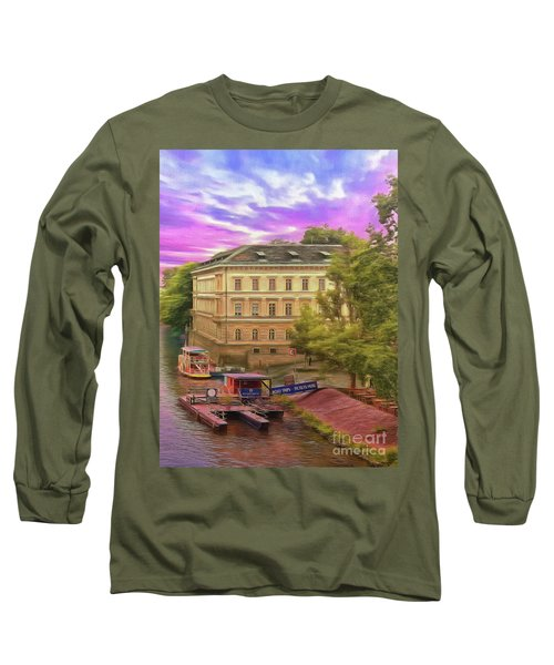 Long Sleeve T-Shirt featuring the photograph Pretty On The River - Prague by Leigh Kemp
