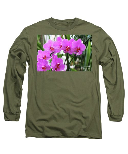 Pretty Pink Phalaenopsis Orchids #2 Long Sleeve T-Shirt