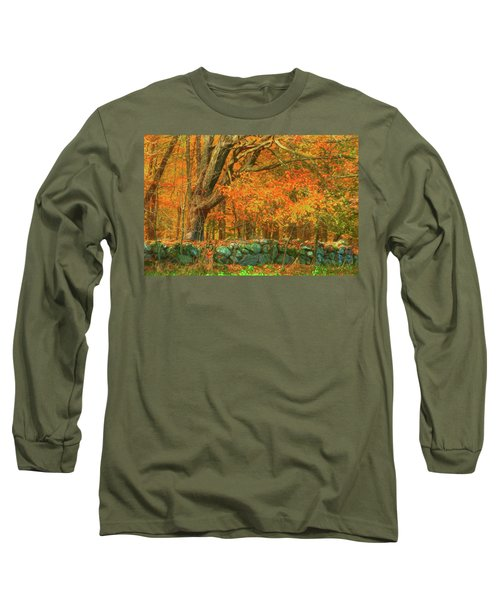 Preuss Road Stone Wall Long Sleeve T-Shirt by Trey Foerster