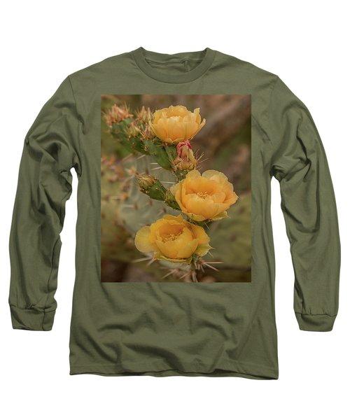 Prickly Pear Blossom Trio Long Sleeve T-Shirt