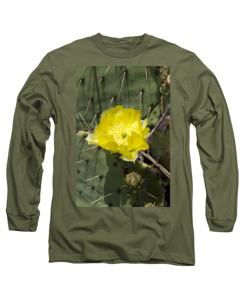 Prickly Pear Cactus Blossom - Opuntia Littoralis Long Sleeve T-Shirt