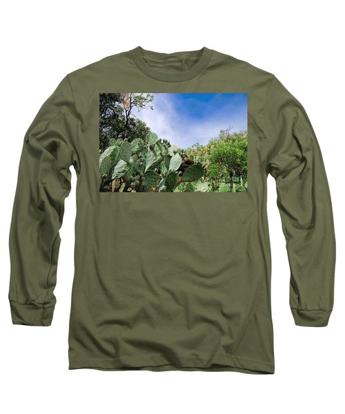 Long Sleeve T-Shirt featuring the photograph Prickly Pear Hillside by Gina Savage