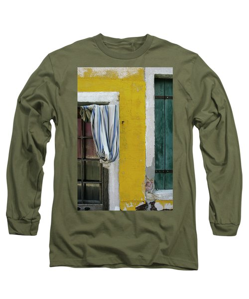 Primary Colours Of Burano Long Sleeve T-Shirt