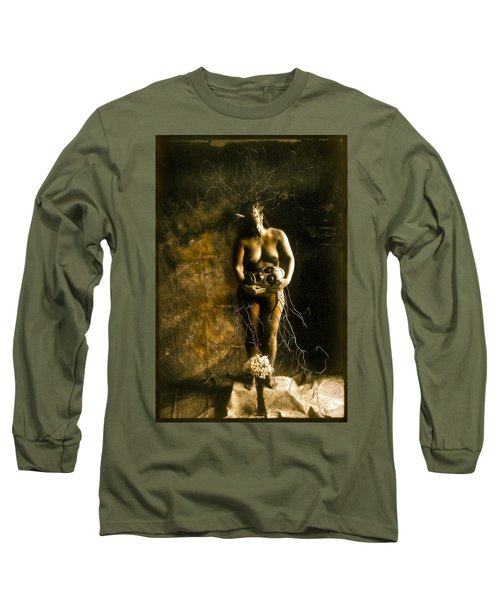 Primitive Woman Holding Mask Long Sleeve T-Shirt