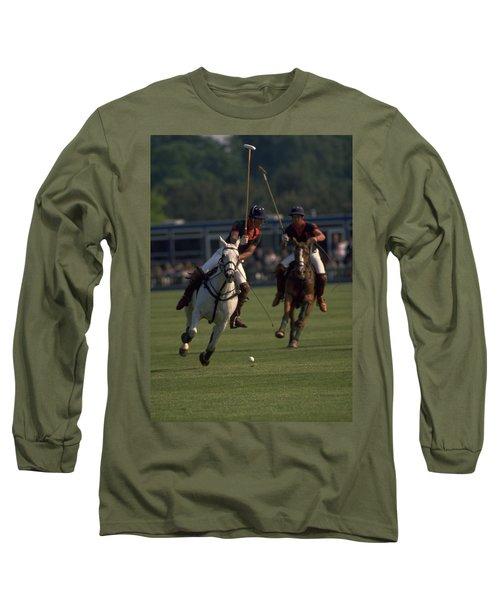 Prince Charles Playing Polo Long Sleeve T-Shirt
