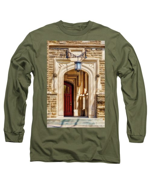 Long Sleeve T-Shirt featuring the photograph Princeton University 1901 Laughlin Hall by Susan Candelario
