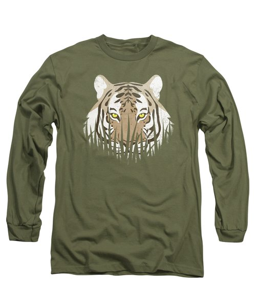 Hiding Tiger Long Sleeve T-Shirt by Sinisa Kale