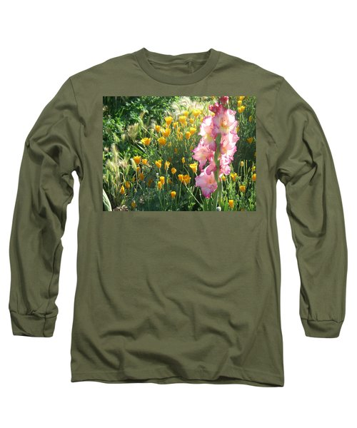 Priscilla With Poppies Long Sleeve T-Shirt