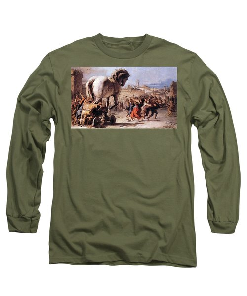 Procession Of The Trojan Horse  Long Sleeve T-Shirt