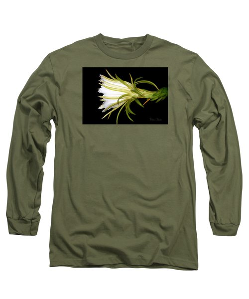 Profile Night Blooming Cereus Long Sleeve T-Shirt by Barbara Chichester