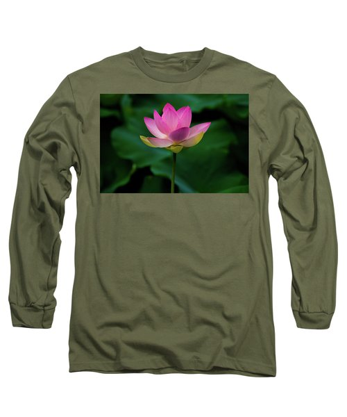 Profile Of A Lotus Lily Long Sleeve T-Shirt
