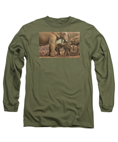 Long Sleeve T-Shirt featuring the photograph Protecting The Babies by Gary Hall