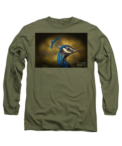 Proud As A Peacock Long Sleeve T-Shirt by Steven Parker